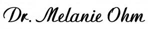 Signature block Dr Melanie Ohm